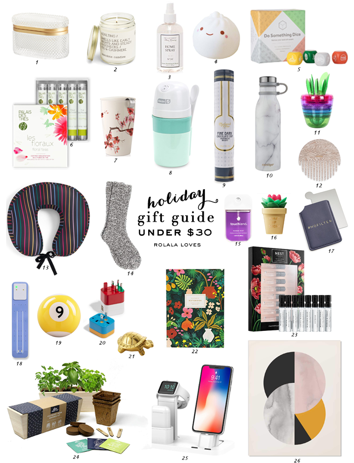 Under $30 Gift Guide, Gift Guide, Gift Ideas, Holiday Gifting, Stocking Stuffers, Affordable Gifts
