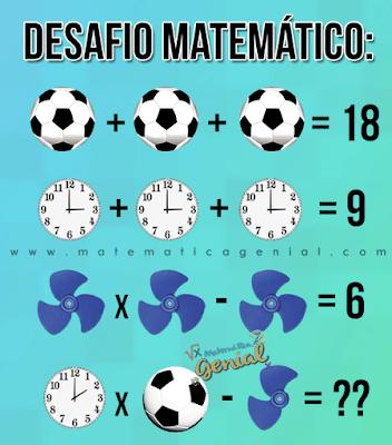 Desafio - Quanto vale a bola, o relógio e o ventilador?