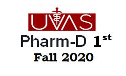 UVAS Pharm-D 1st Merit list 2020