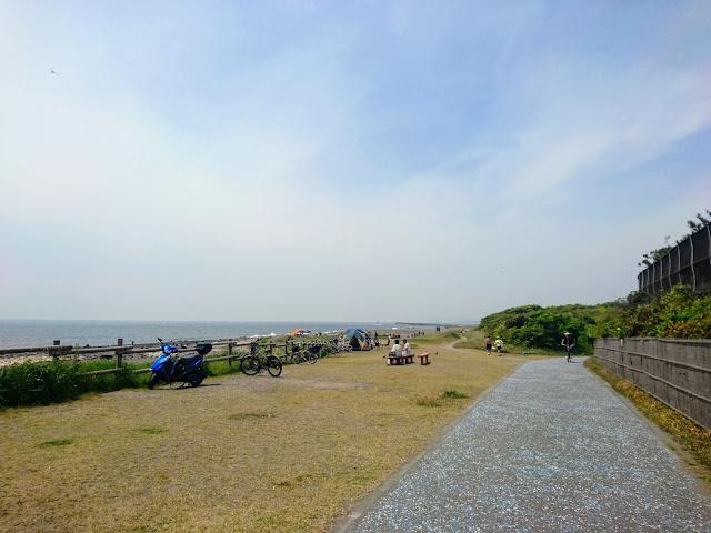 湘南海岸・砂浜のみち 柳島海岸