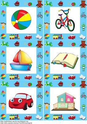 toys flashcard