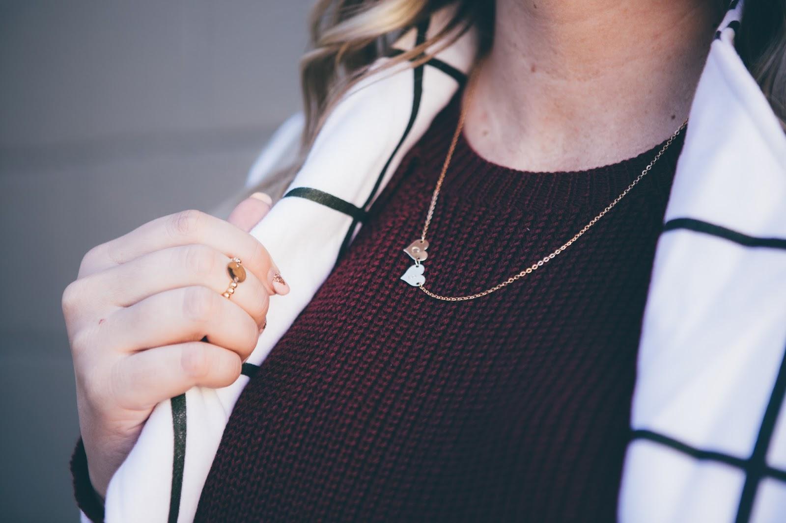 Taudrey Jewelry, Utah Fashion Blogger, Dainty Hearts Necklace