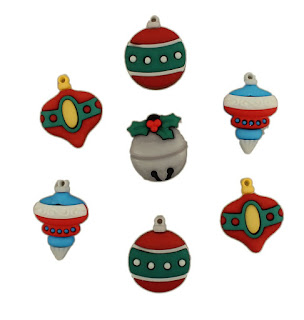 3D buttons - tree trimmers ornaments