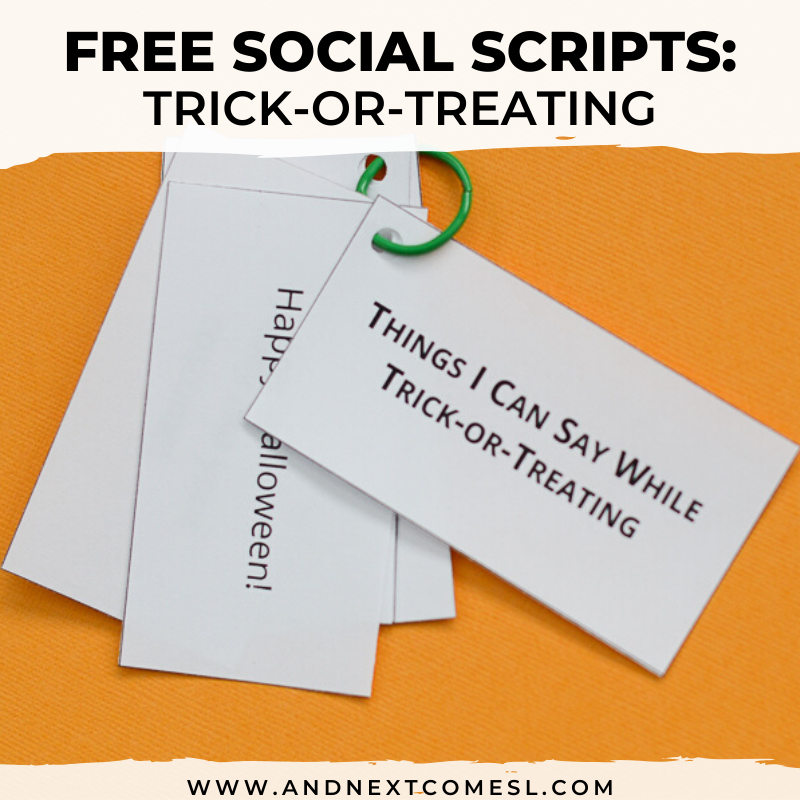 Scripting And Social Narratives Autism Halloween 2020 Free Printable Halloween Trick or Treating Social Scripts for Kids