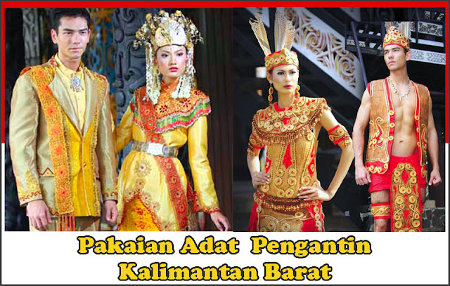 Gambar Pakaian adat Pengantin Kalimantan Barat