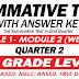 SUMMATIVE TEST with Answer Key (Modules 1-2) 2ND QUARTER
