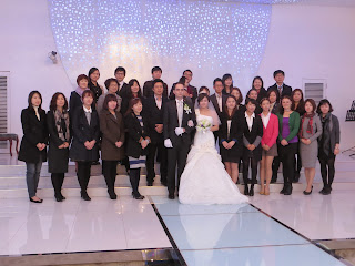 Korean wedding photos - work colleagues