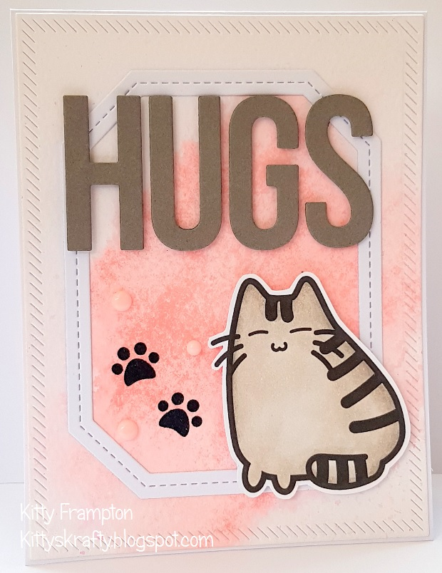 I Created The Background Using Some Distress Inks Think It Was Spun Sugar Stamps Are Called Fluffy Hugs And Available As A Rubber Stamp Set Or