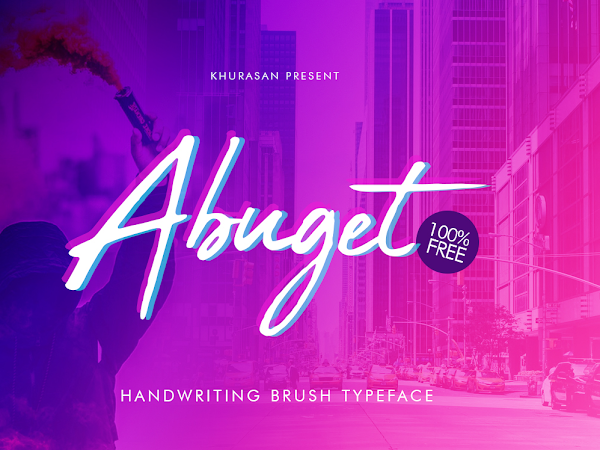 Abuget Brush Signature Font Free Download