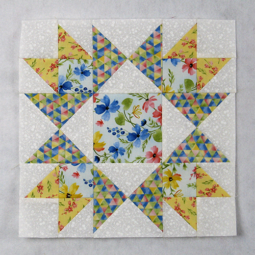 The Honeymoon Quilt Block designed by Elaine Huff of Fabric406