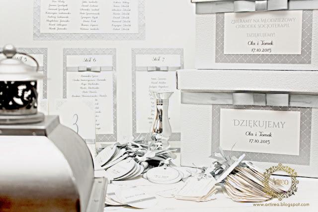 zaproszenie ślubne srebrne