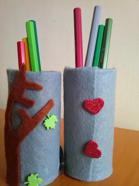 portalapices-rollo papel higienico-reciclar-niños-manualidad