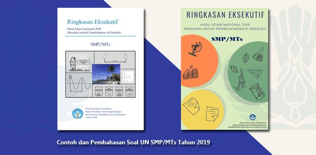 Contoh dan Pembahasan Soal UN SMP MTs Tahun 2019