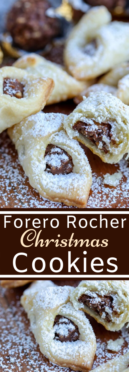 Ferrero Rocher Christmas Cookies #cookies #recipe #holiday #desserts #pastry