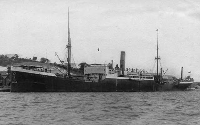 SS Pinna, sunk by Japanese aircraft south of Singapore on 3 February 1942 worldwartwo.filminspector.com