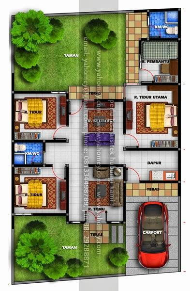 Desain Rumah Dilahan 10x16 m2 BSR  Seputar Dunia Rumah
