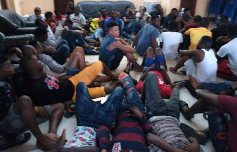 Faces of 50 Nigerians Arrested For
