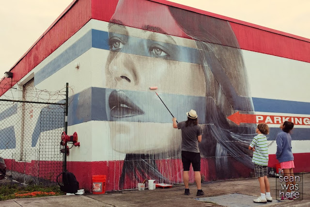 Second Street Art Mural By Rone For Miami Art Basel 2013 In Wynwood. 3