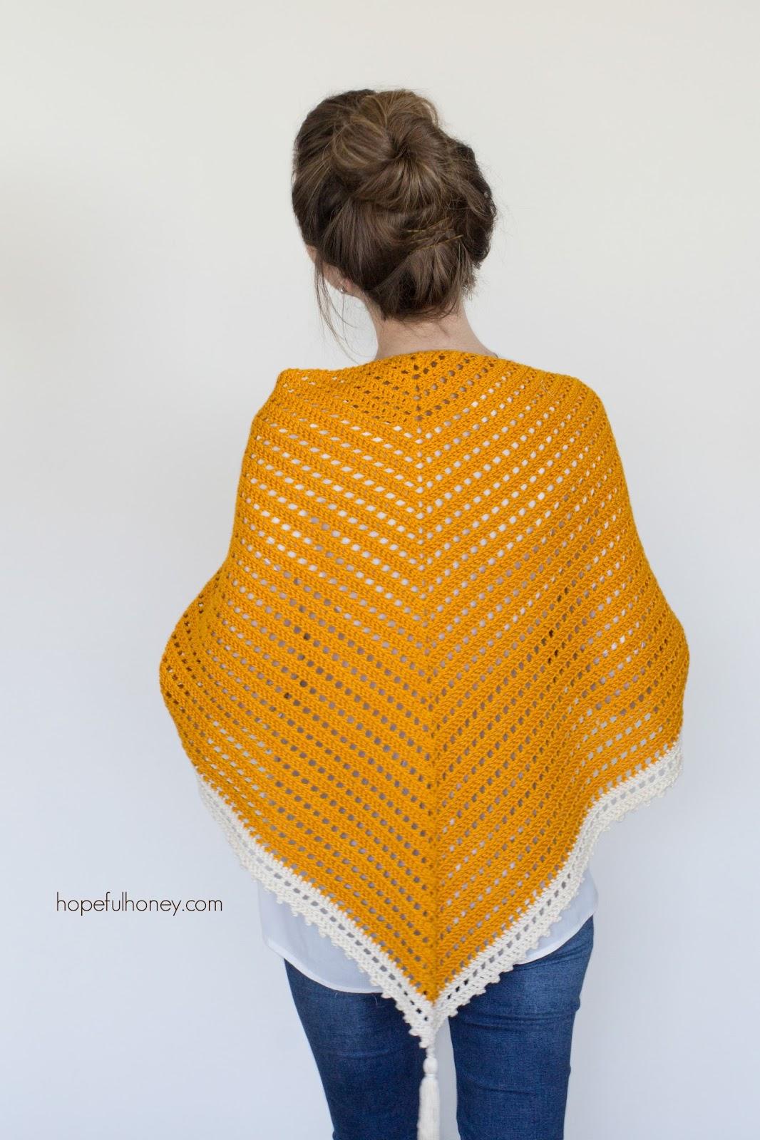 Crochet Pattern Triangle Scarf : Hopeful Honey Craft, Crochet, Create: Honey Bird ...