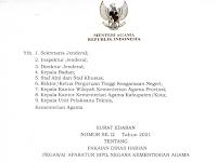 SURAT EDARAN NOMOR SE.12 Tahun 2021 TENTANG PAKAIAN DINAS HARIAN PEGAWAI APARATUR SIPIL NEGARA KEMENTERIAN AGAMA
