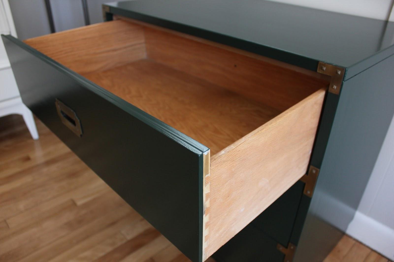 blue lamb furnishings : 3-Drawer Drexel Campaign Dresser - SOLD