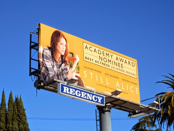 Still Alice Best Actress Oscar nominee billboard