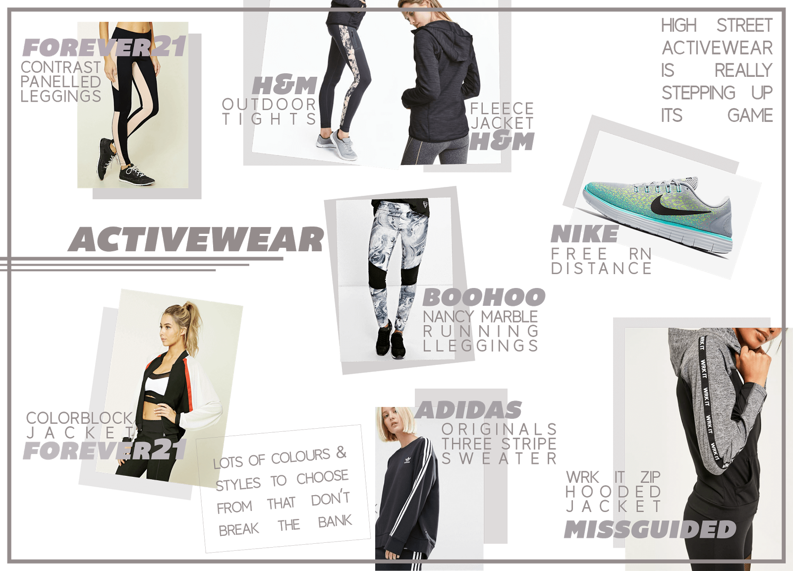 activewear wishlist january uk fashion blogger