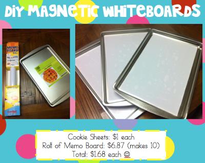 DIY Magnetic Whiteboard - Littlest Scholars