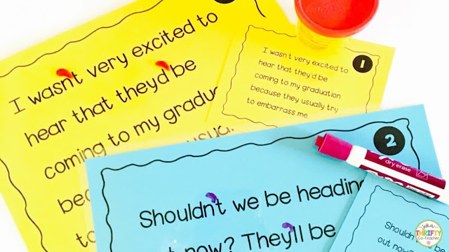 Possessive nouns activities such as work mats that can be used with Play-Doh, dry erase markers, or pasta are a fun way to practice apostrophes with possessive nouns.