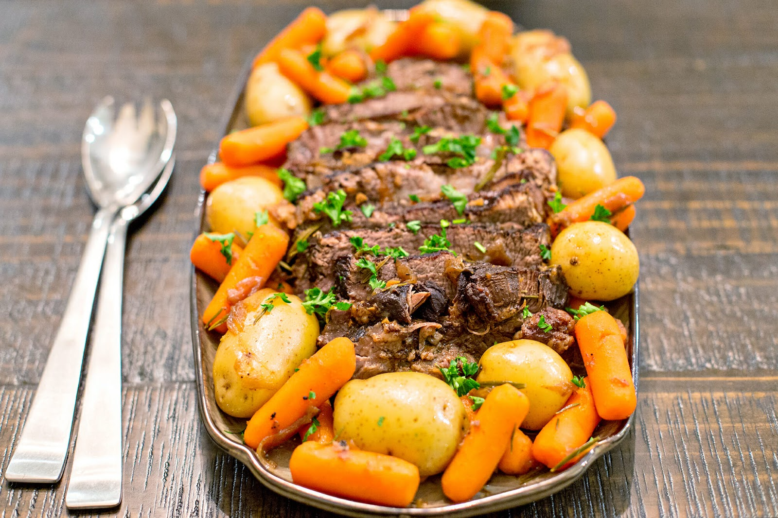 Pressure Cooker Pot Roast with Balsamic and Rosemary