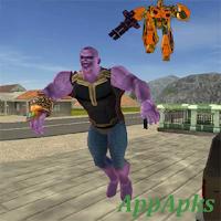 Thanos Rope Hero Vice Town Apk