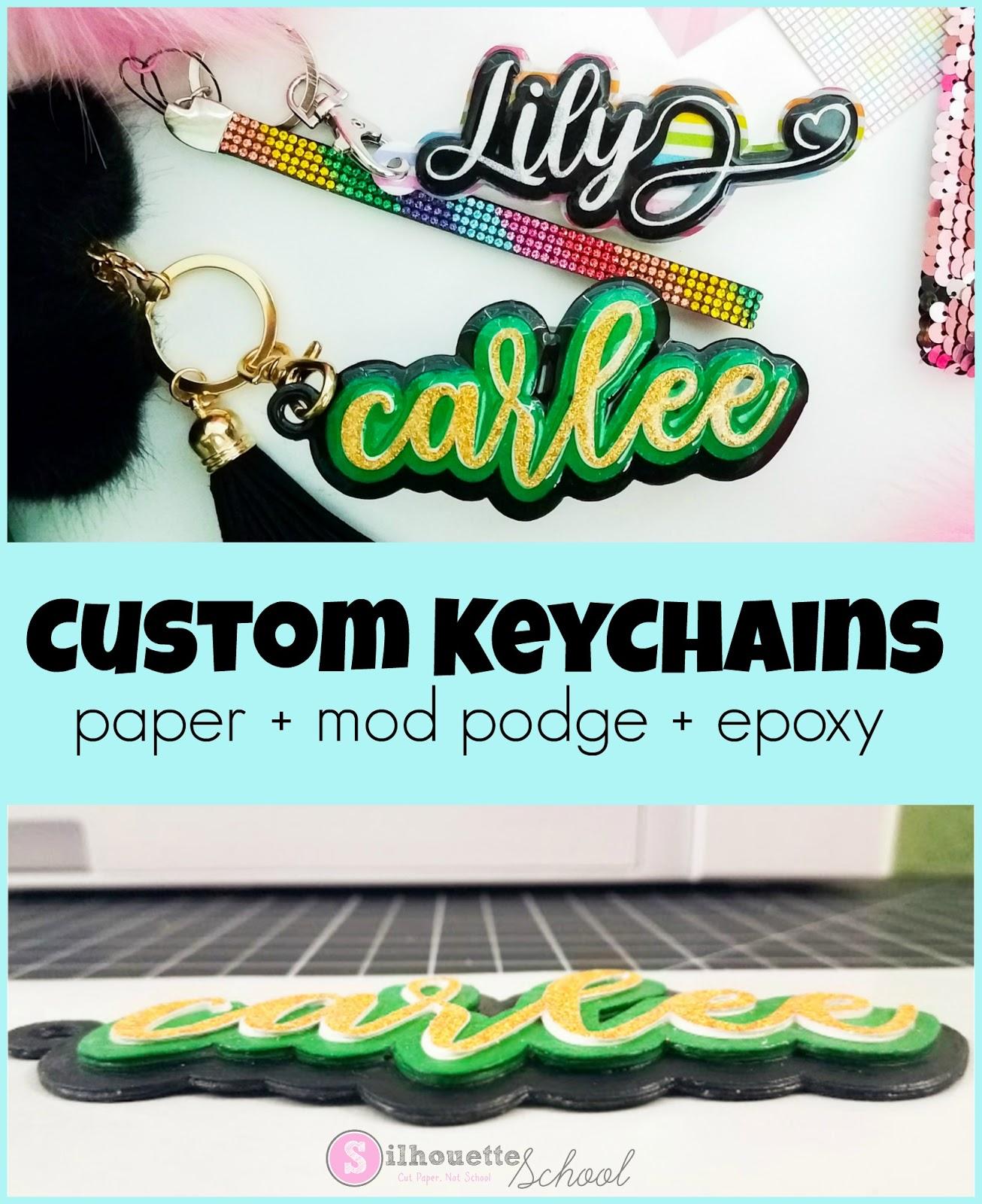 Resin custom keychains