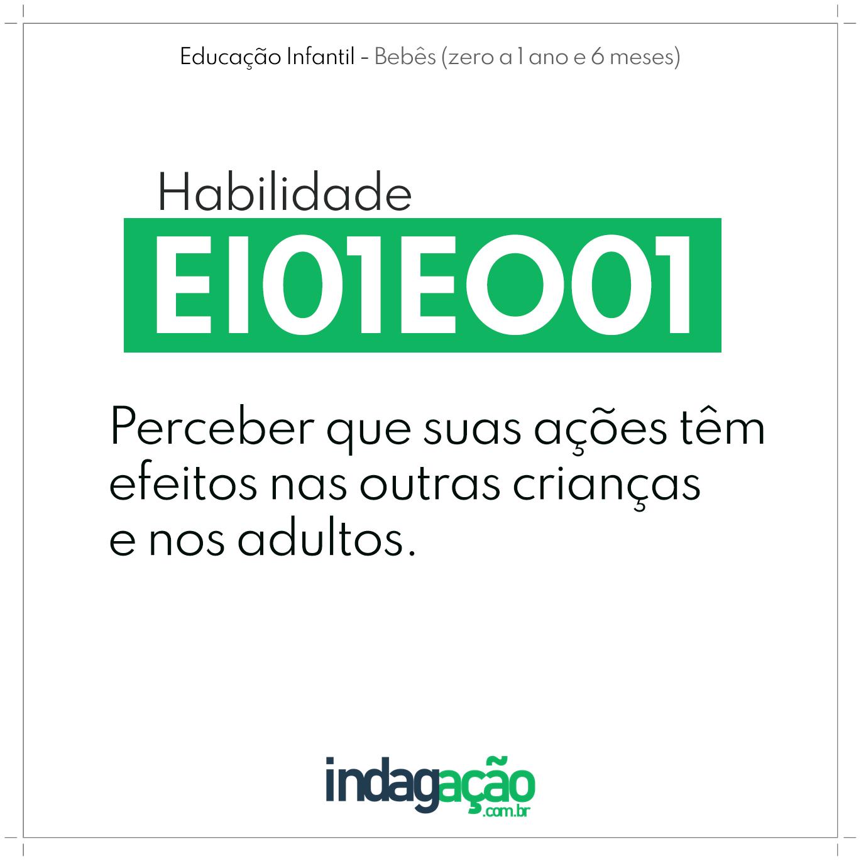 Habilidade EI01EO01 BNCC
