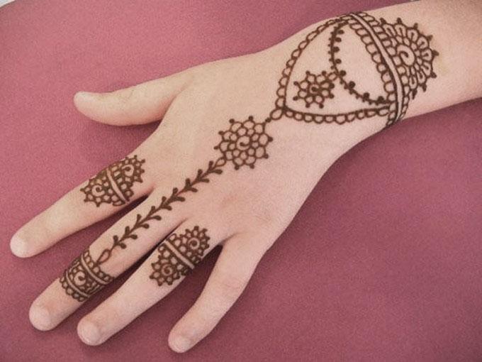 Jewellery Style Pattern Back Hand