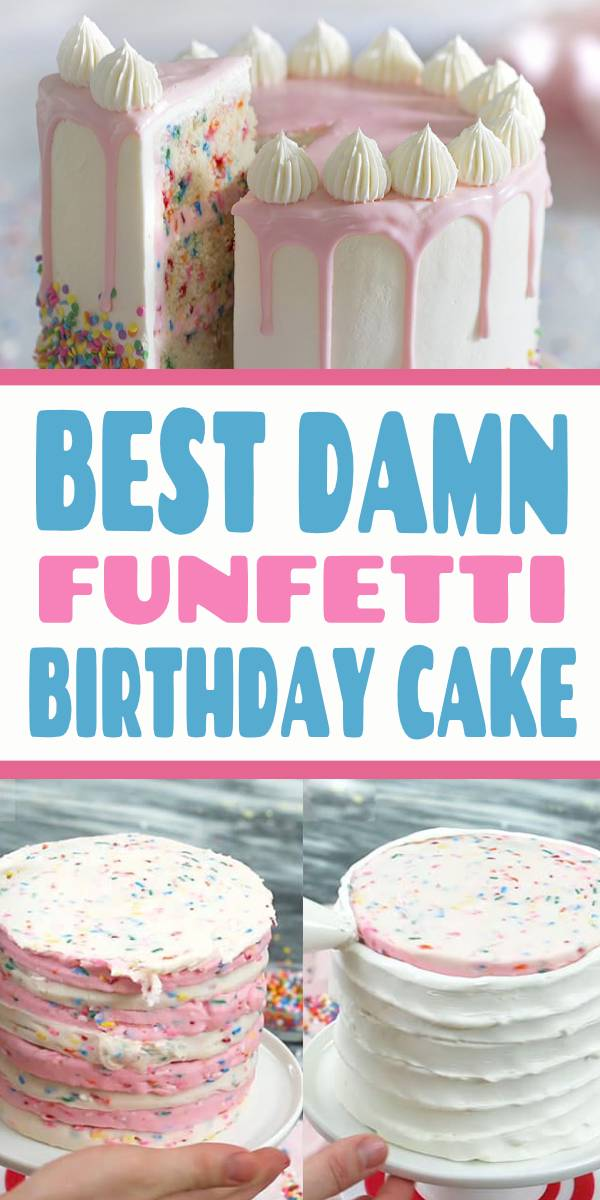 Do you want to know how to make a delicious Funfetti cake? I walk you through all the steps to make this 4-layer funfetti birthday cake #preppykitchen #funfetticake #funfetti #recipes #cakerecipes