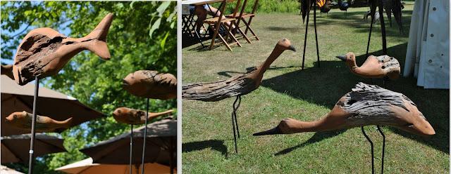 Tierfiguren aus Holz - Impressionen vom Gartenfest Hanau 2015