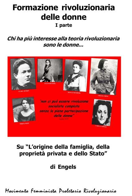 E' uscito il primo opuscolo sulla formazione rivoluzionaria delle donne