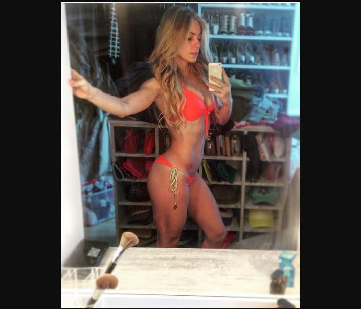 Natalia Rivera entrenamiento selfie Instagram