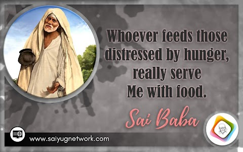 Feed Distressed - Sai Baba With Begging Bowl Painting Image