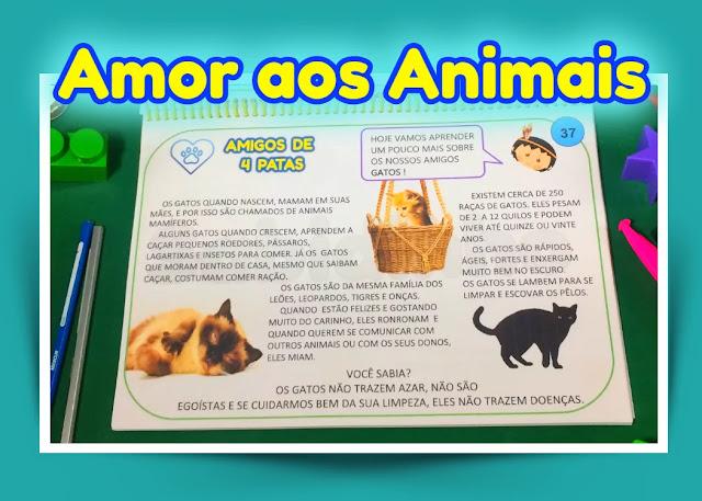 Atividades sobre a proteção dos animais.