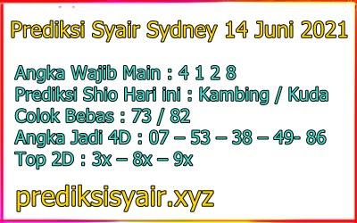Syair sydney opesia 14 juni 2021