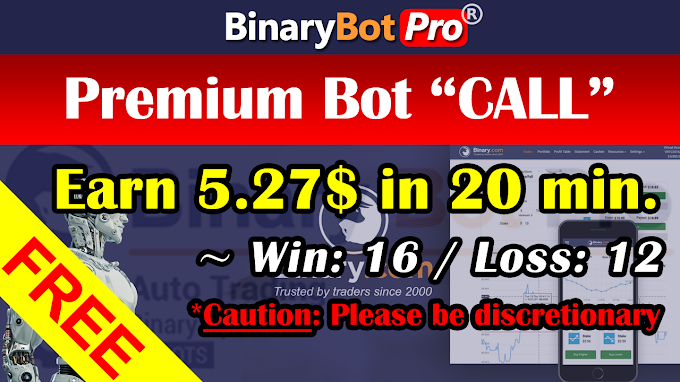 Premium Bot CALL Strategy (23-Sep-2020) | Binary Bot | Free Download