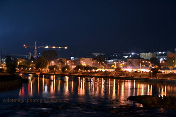 Autumn fair in Cluj from the distance-night shot