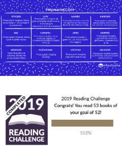 Paratexterskie wyzwania 2019, grafika #wyzwanieLC2019 lubimyczytać.pl ©, 52 book challenge Goodreads ©, fot. paratexterka ©