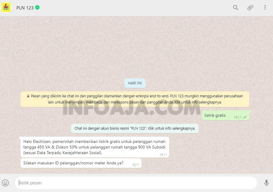 Cara Klaim Token Listrik Via WhatsApp