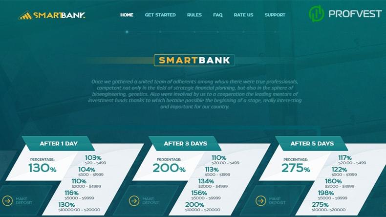 SmartBank обзор и отзывы HYIP-проекта