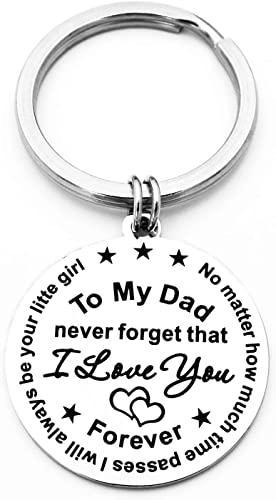 Fathers Day Gifts for Dad Engraved Keychain 50% OFF