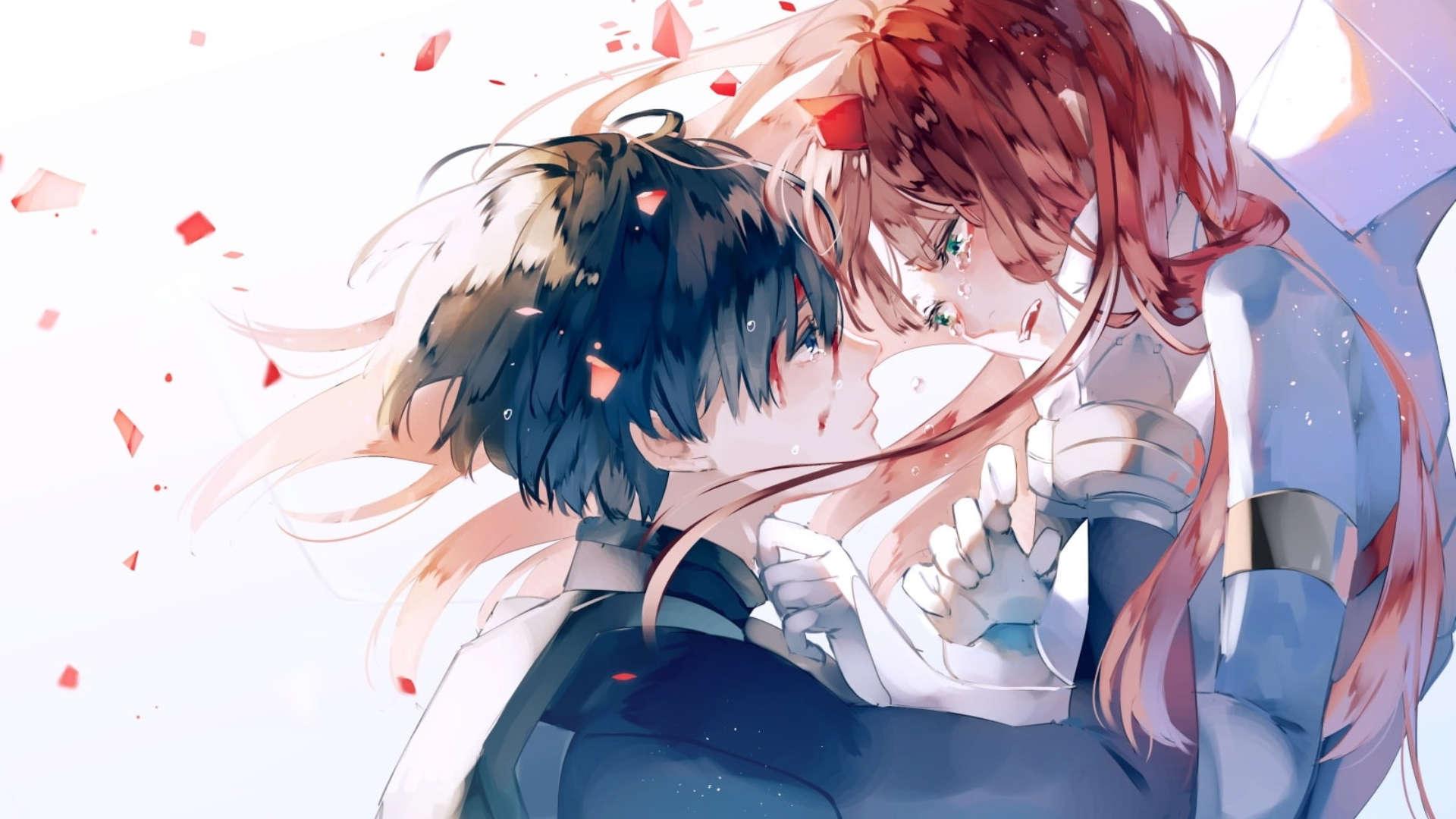 Wallpaper anime romantis pc laptop