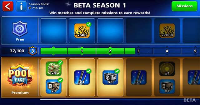 8 ball pool Pool Pass Season 1