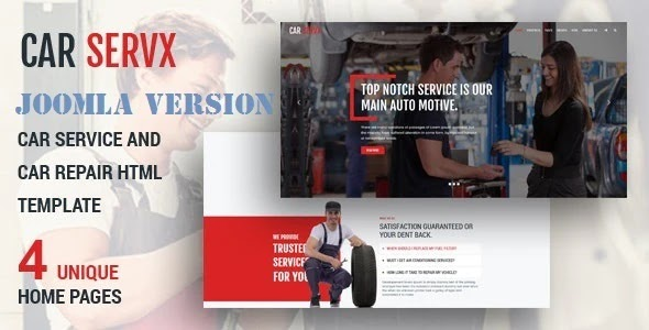 Best Car Service and Car Repair Joomla Template